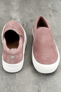 Steve Madden Gills Mauve Suede Leather Slip-On Sneakers 3