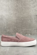 Steve Madden Gills Mauve Suede Leather Slip-On Sneakers 2