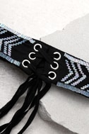 New Friends Colony Deco Black and Iridescent Choker Necklace 3