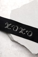 New Friends Colony XOXO Black Silk Choker Necklace 1