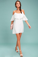 Sweet Treat White Off-the-Shoulder Dress 1