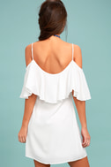 Sweet Treat White Off-the-Shoulder Dress 3