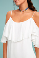 Sweet Treat White Off-the-Shoulder Dress 4