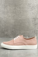 Patsy Dusty Mauve Suede Sneakers 1