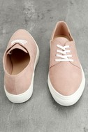 Patsy Dusty Mauve Suede Sneakers 3