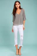 Daily Romance Grey Long Sleeve Top 1