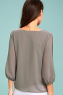 Daily Romance Grey Long Sleeve Top 3