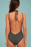 Revival Heather Grey Backless Bodysuit 5