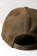 Homerun Hunny Brown Leather Baseball Cap 3