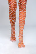 Net-orious White Fishnet Tights 2