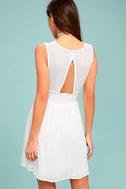 Parkside White Embroidered Skater Dress 3