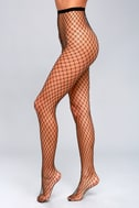 What a Catch Black Fishnet Tights 1