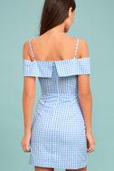 Beach Picnic Blue and White Gingham Dress 3
