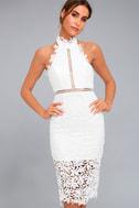 Divine Destiny White Lace Midi Dress 1