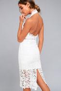 Divine Destiny White Lace Midi Dress 3