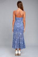 NBD Brielle Denim Blue Lace Midi Dress 3