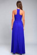 Beauty and Grace Royal Blue Maxi Dress 3
