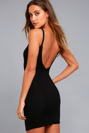 Get to Know Me Black Bodycon Dress 2