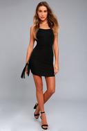 Get to Know Me Black Bodycon Dress 1