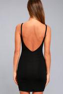 Get to Know Me Black Bodycon Dress 3