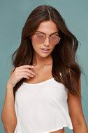 Crap Eyewear The Tuff Safari Rose Gold Mirrored Sunglasses 4