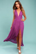 Passionate Embrace Magenta Halter Maxi Dress 1