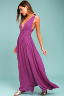 Passionate Embrace Magenta Halter Maxi Dress 2