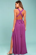 Passionate Embrace Magenta Halter Maxi Dress 3