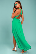Passionate Embrace Green Halter Maxi Dress 2