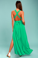 Passionate Embrace Green Halter Maxi Dress 3