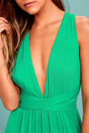Passionate Embrace Green Halter Maxi Dress 4