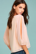 Daily Romance Peach Long Sleeve Top 2