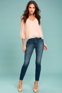 Daily Romance Peach Long Sleeve Top 1