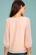 Daily Romance Peach Long Sleeve Top 3