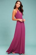 Beauty and Grace Magenta Maxi Dress 2