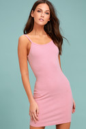 Get to Know Me Mauve Pink Bodycon Dress 2