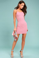 Get to Know Me Mauve Pink Bodycon Dress 1