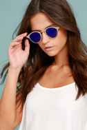 Spitfire Warp Gold and Blue Sunglasses 3