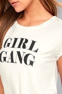 Girl Gang White Tee 4