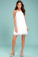 Despacito White Embroidered Shift Dress 2
