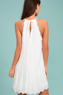 Despacito White Embroidered Shift Dress 3