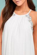 Despacito White Embroidered Shift Dress 4