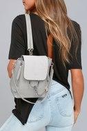 Sidewalk Stunner Grey Backpack 5
