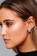 Well-Known Silver Star Earrings 1