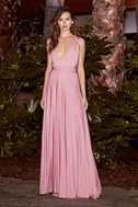 LULUS Exclusive Tricks of the Trade Mauve Maxi Dress 9
