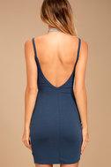 Get to Know Me Denim Blue Bodycon Dress 3