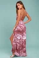 Live in Harmony Mauve Tie-Dye Maxi Dress 8