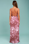 Live in Harmony Mauve Tie-Dye Maxi Dress 9