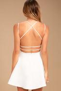 Believe in Love White Backless Skater Dress 3