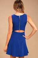 Just Us Royal Blue Skater Dress 3